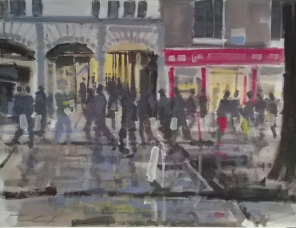 Part of Paint Out Norwich Festival. All work from all the artists exhibited and for sale at The Hostry, Norwich Cathedral, from today (24th October) until 30th October...then moved to the Maddermarket Theatre Gallery.